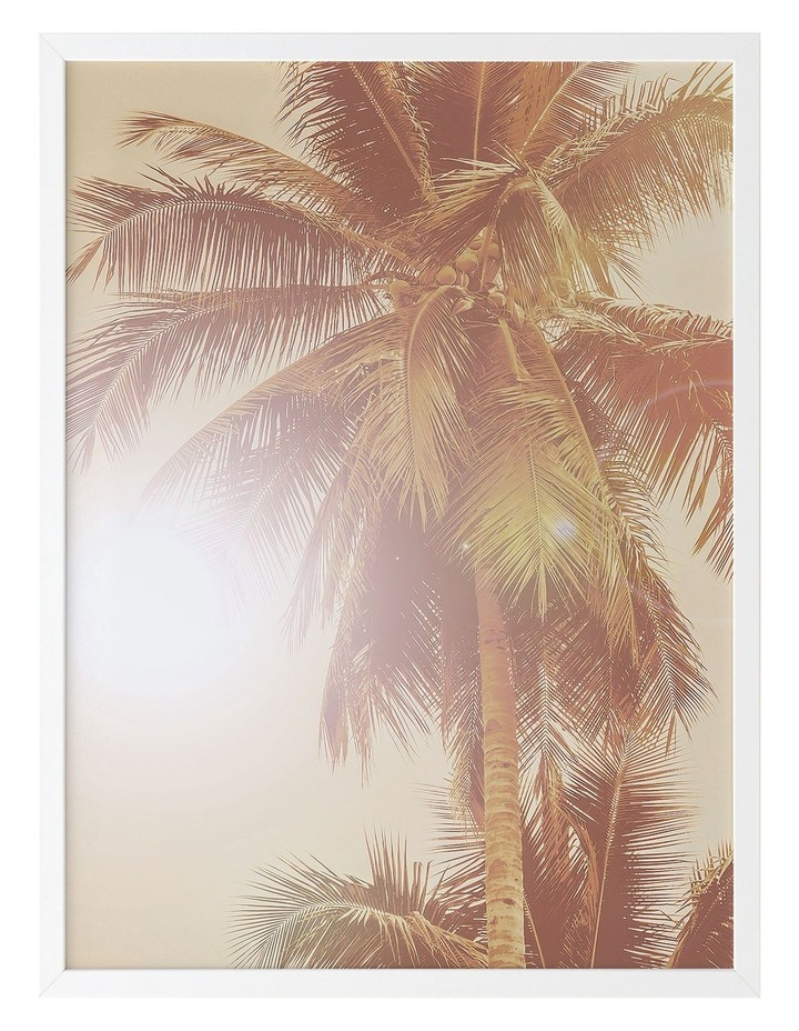 Sunkissed Palm Print White Frame image 1