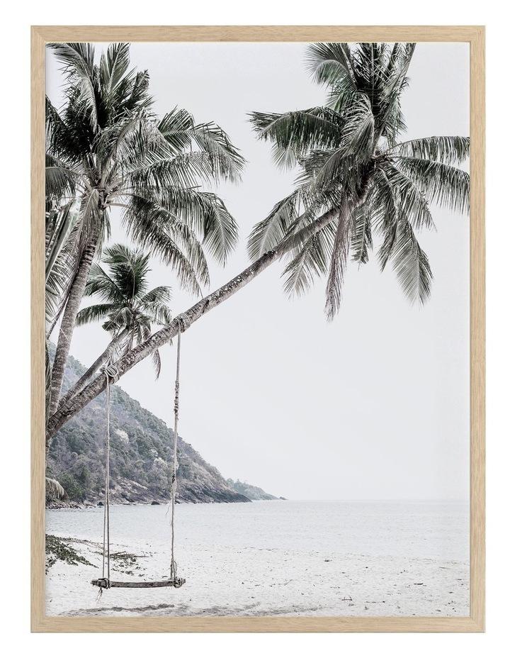 Swing Life Away Print Oak Frame image 1