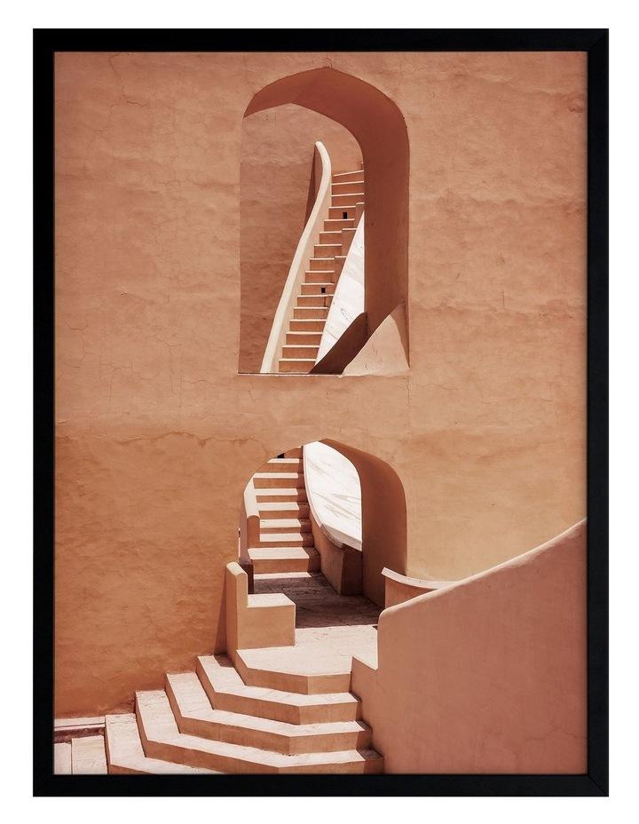 Winding Staircase Terracotta Print Black Frame image 1