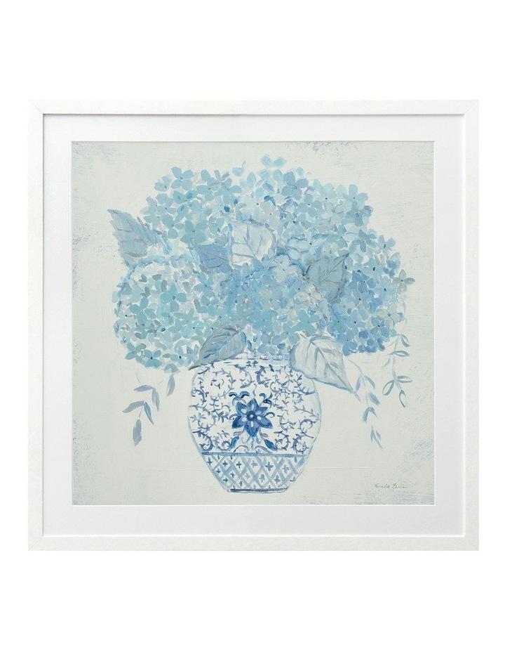 Ginger Jar Hydrangea Print White Frame image 1