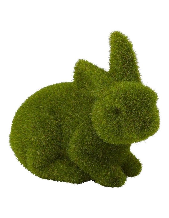 Rogue Moss Bunny Crouching 17x10x13cm image 1