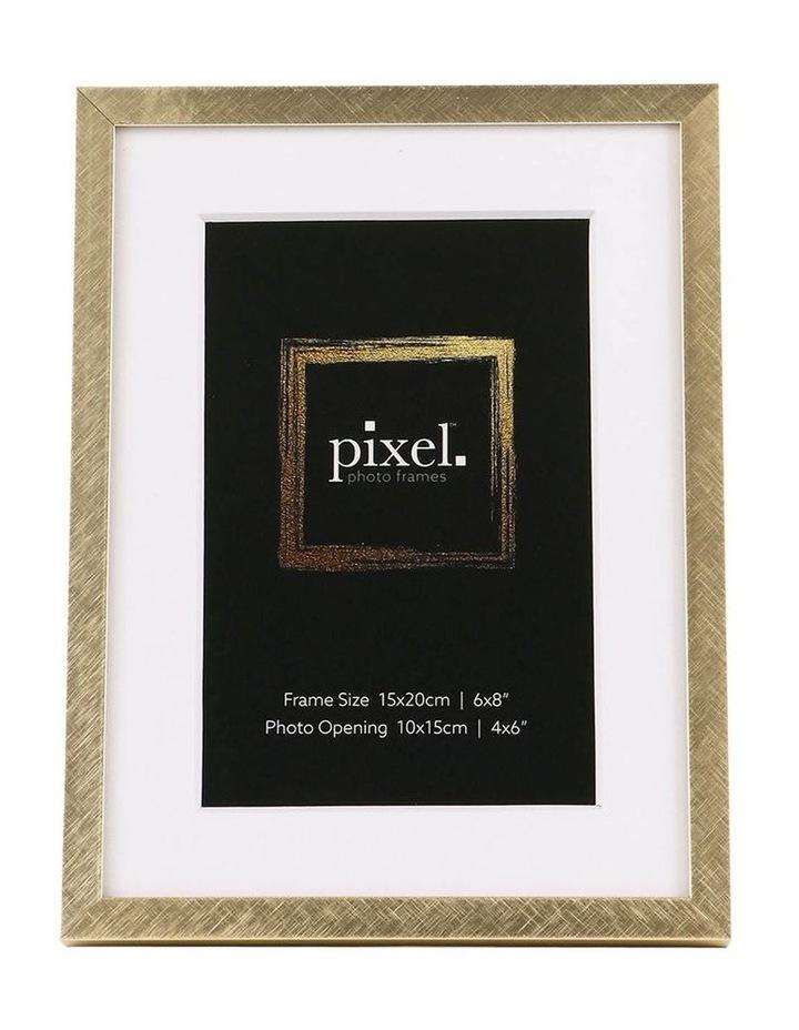 Pixel Gold Platinum Metal Frame 15x20cm with 10x15cm image 1