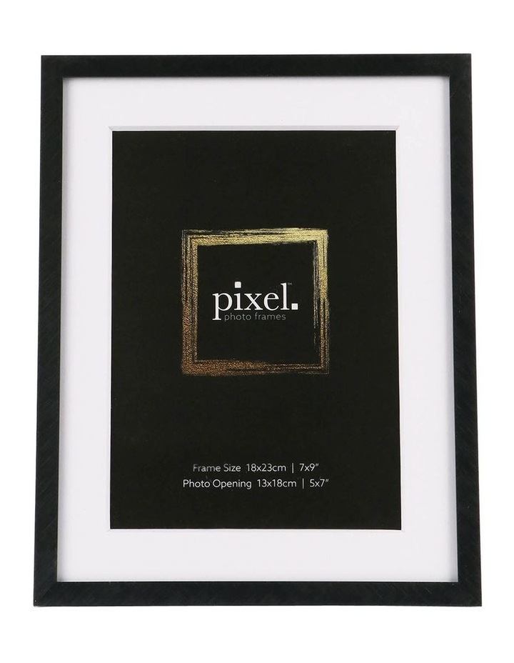 Pixel Black Platinum Metal Frame 18x23cm with 13x18cm opening image 1