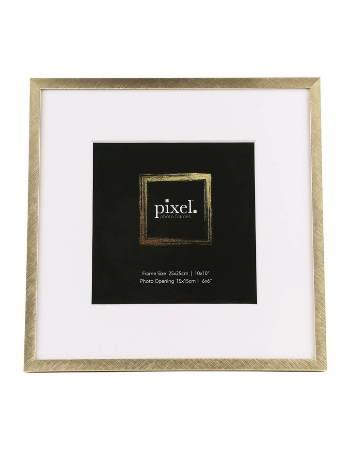 Pixel Gold Platinum Metal Frame 25x25cm with 15x15cm opening image 1
