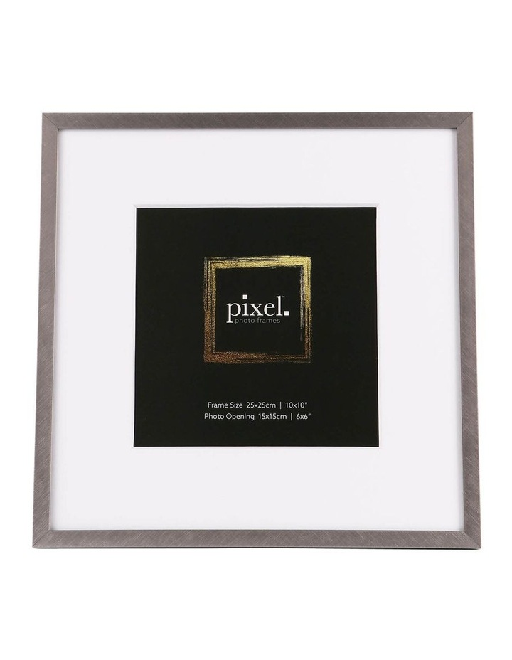 Pixel Silver Platinum Metal Frame 25x25cm with 15x15cm opening image 1