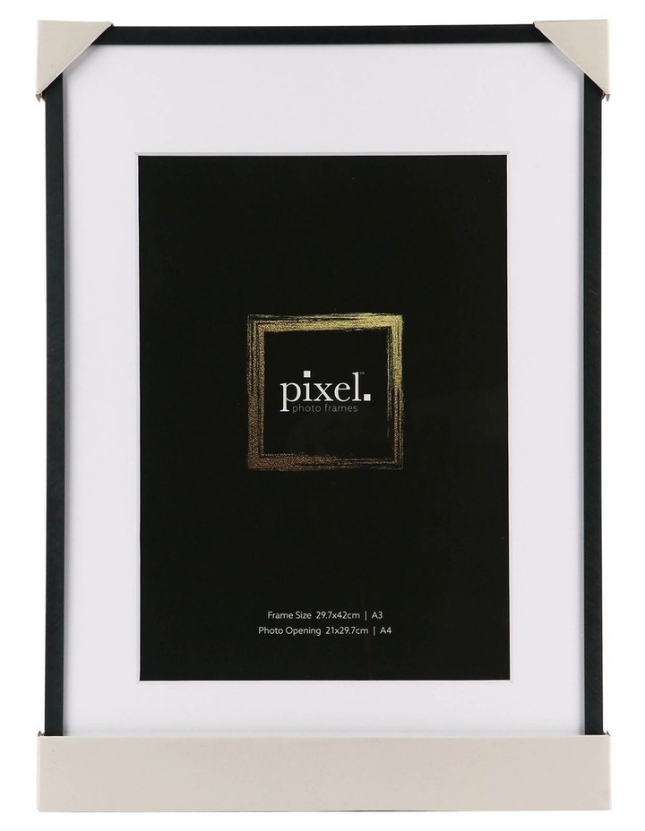 Pixel Black Platinum Metal Frame A3 with A4 opening image 3