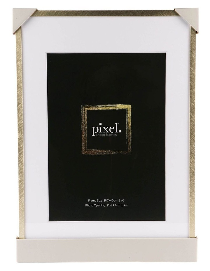 Pixel Gold Platinum Metal Frame A3 with A4 opening image 3
