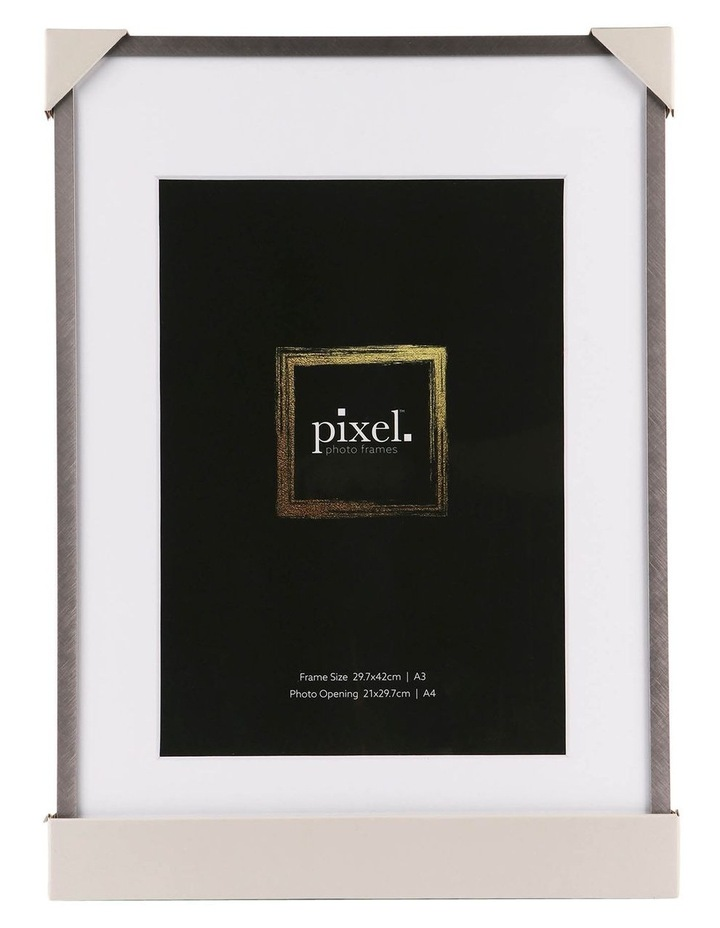 Pixel Silver Platinum Metal Frame A3 with A4 opening image 3