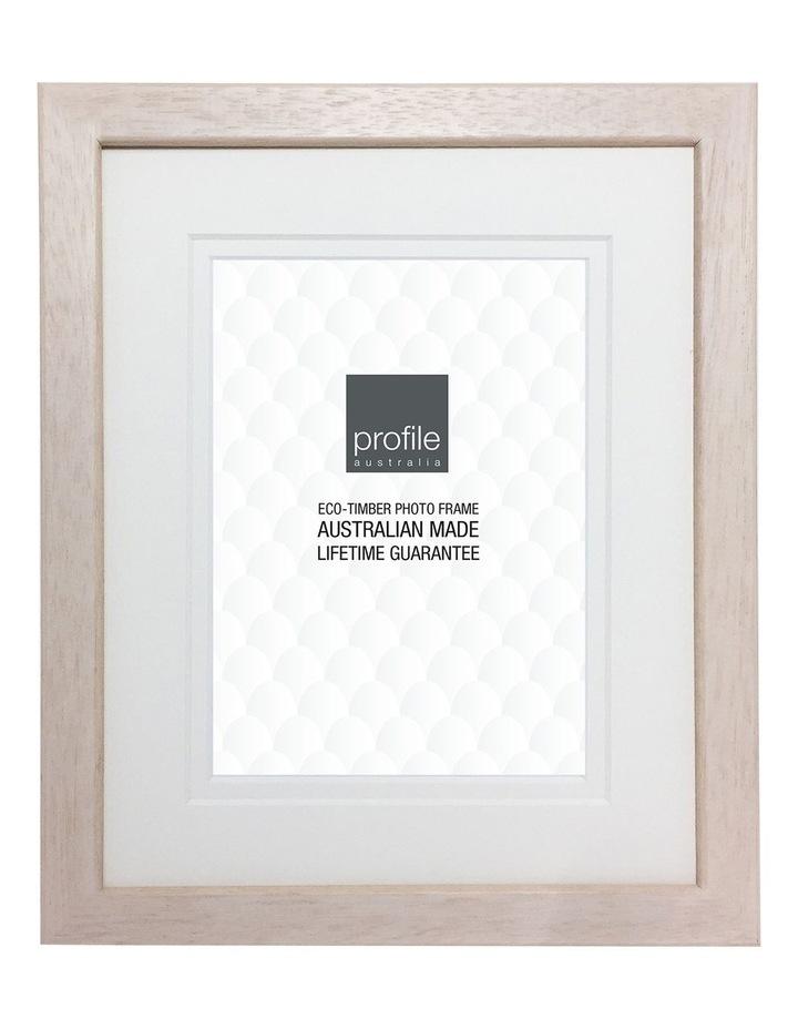 "Deluxe Photo Frame Whitewash 8x10""/5x7"" image 1"