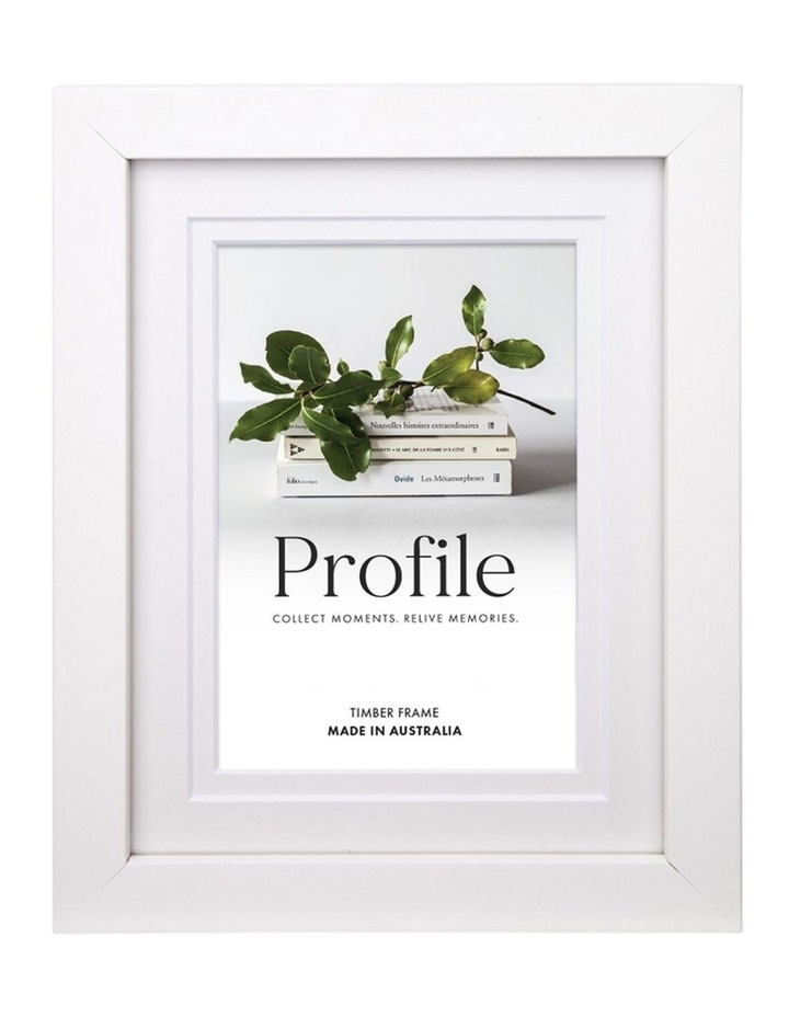 Deluxe White Timber Photo Frame image 1