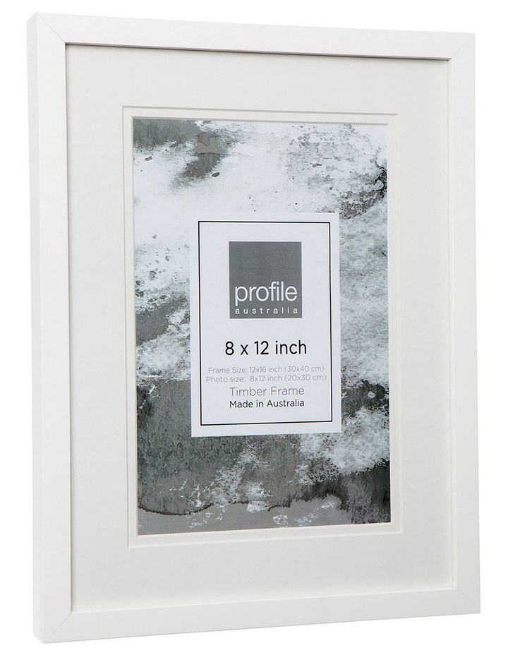 Profile Deluxe Photo Frame 8x12 White Myer