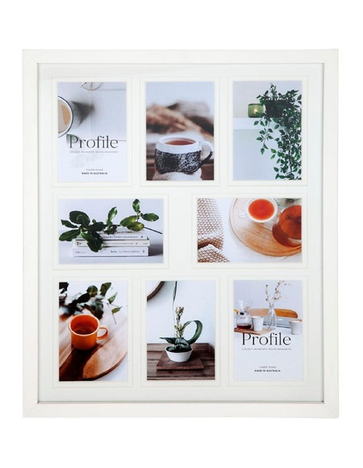 """Deluxe White Timber Collage Photo Frame 16x20""""/4x6"""" (8) image 1"""