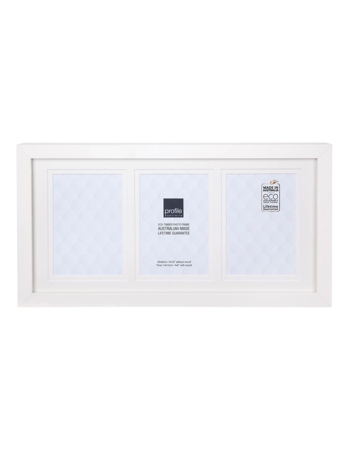 "Deluxe White Timber Photo Frame 8x16""/4x6"" (3) image 1"