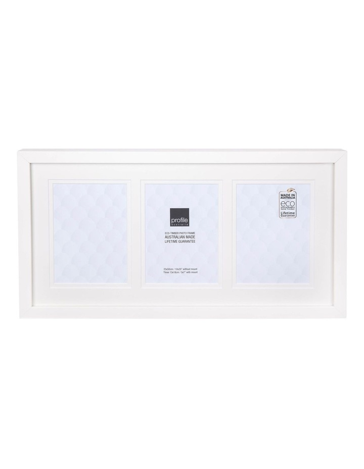 """Deluxe White Timber Photo Frame 10x20""""/5x7"""" (3) image 1"""