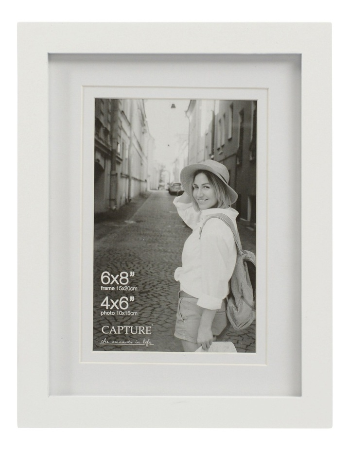 "Explore 6x8"" White Frame with 4x6"" Opening image 1"