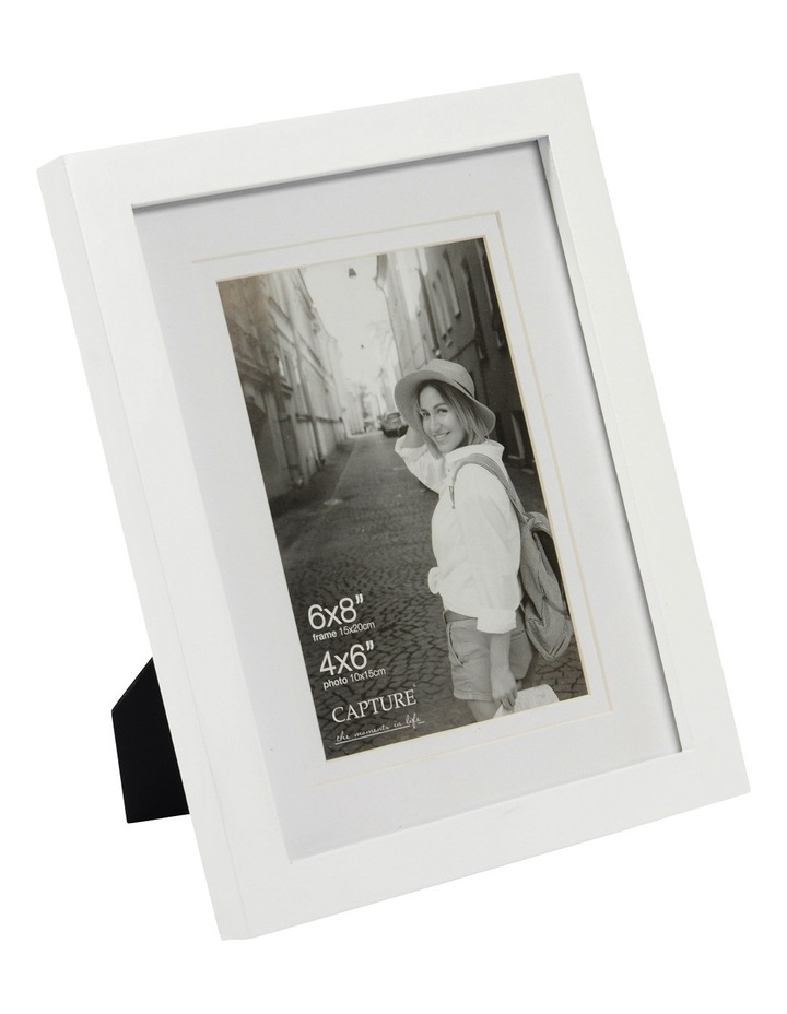 "Explore 6x8"" White Frame with 4x6"" Opening image 2"