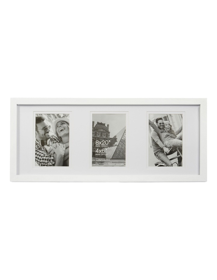 Explore 8x20cm White with 3-4x6cm Openings Double Matt image 1