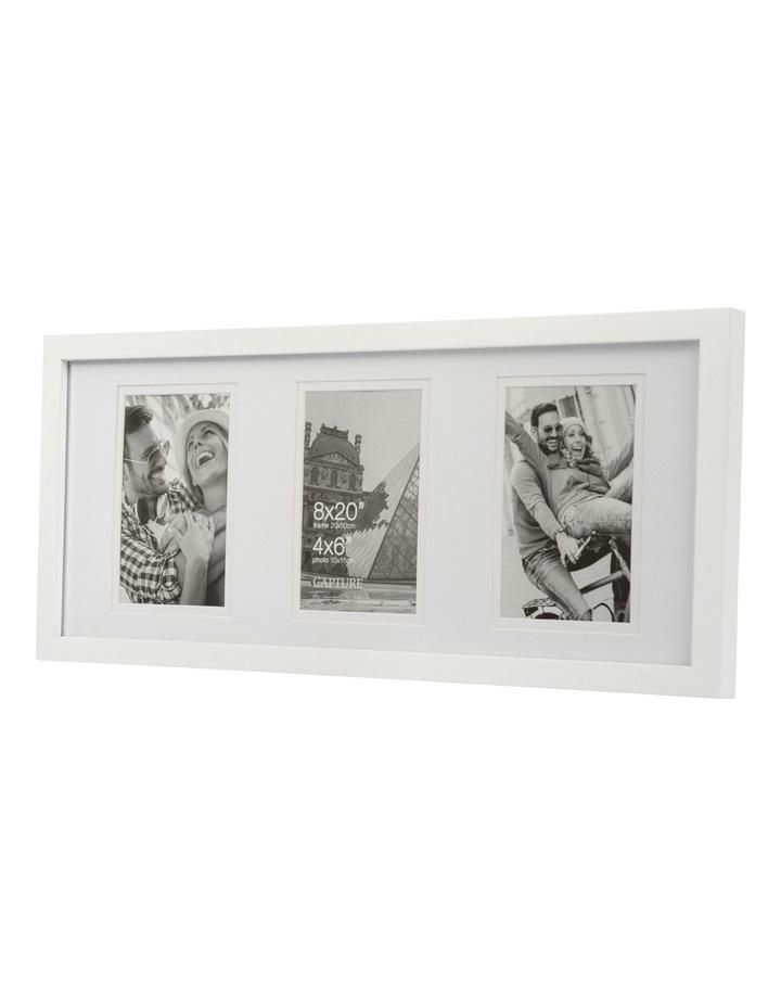 Explore 8x20cm White with 3-4x6cm Openings Double Matt image 2
