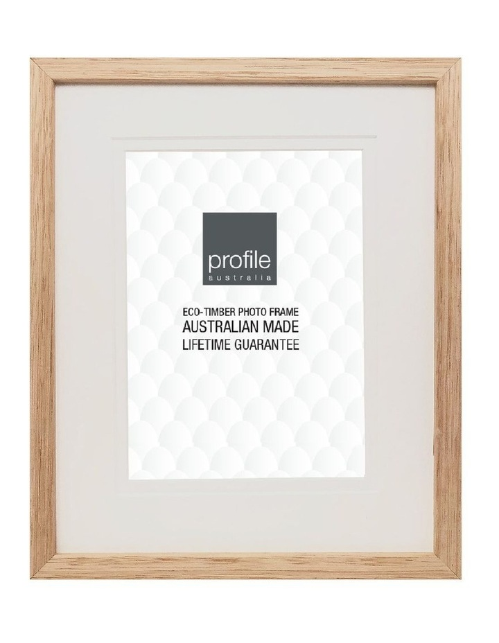 """Deluxe 2040 Timber Photo Frame Victorian Ash 8x10"""" Matted to 5x7"""" image 1"""