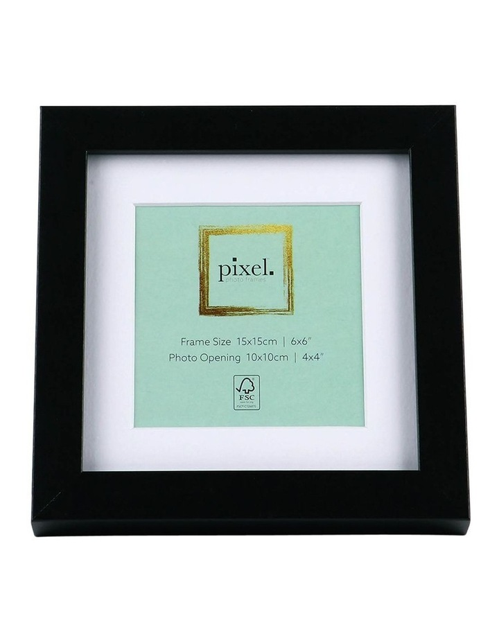 Pixel Black Photo Frame 15x15cm with 10x10cm Opening image 1