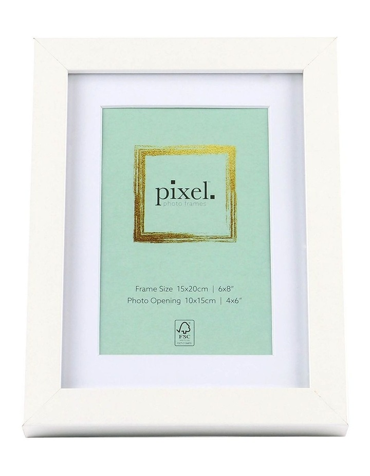 Pixel White Photo Frame 15x20cm with 10x15cm Opening image 1