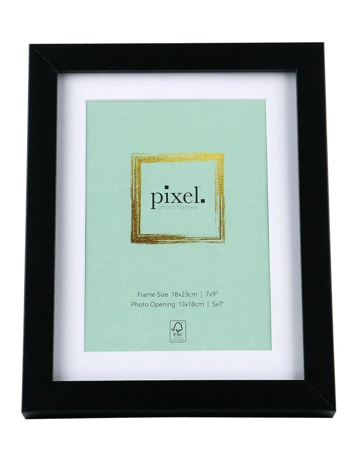 Pixel Black Photo Frame 18x23cm with 13x18cm Opening image 1