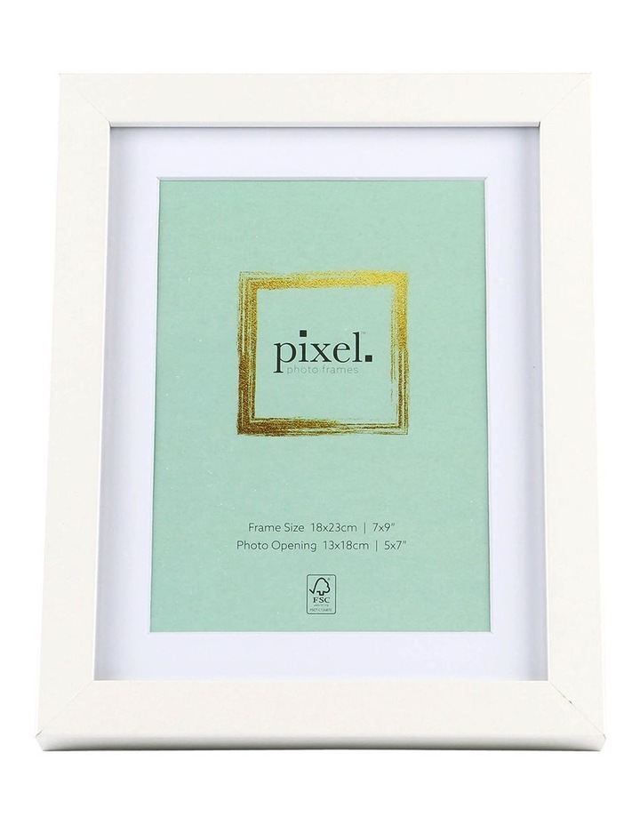 Pixel White Photo Frame 18x23cm with 13x18cm Opening image 1