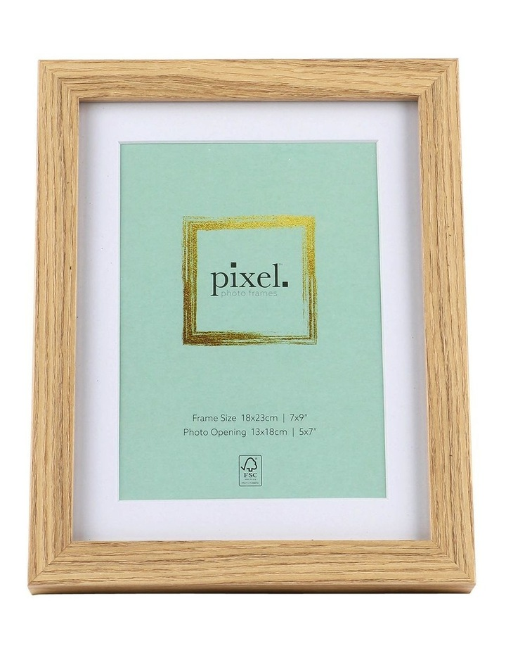 Pixel Natural Photo Frame 18x23cm with 13x18cm Opening image 1