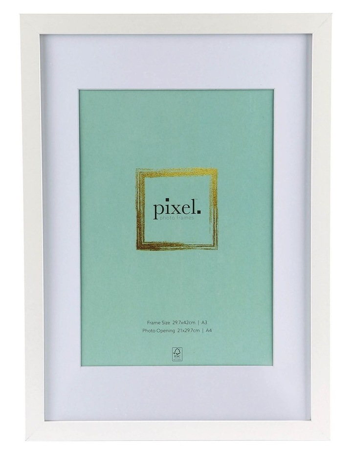 Pixel White Photo Frame A3 with A4 opening image 1