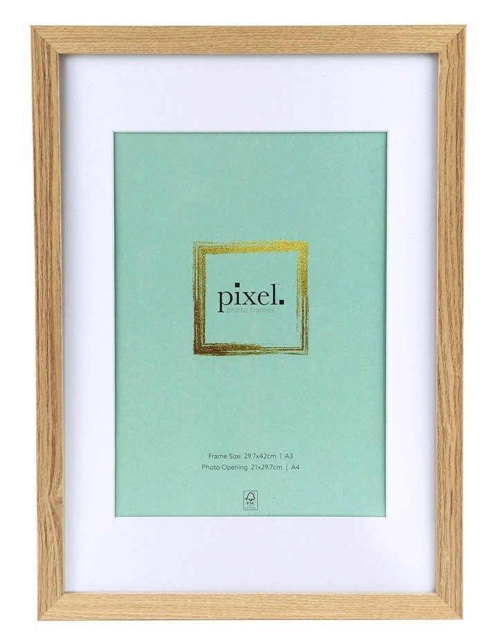 Pixel Natural Photo Frame A3 with A4 opening image 1
