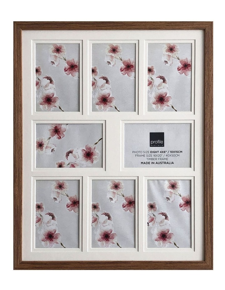 Photo Frame Deluxe Chestnut 16x20/4x6(8) image 1