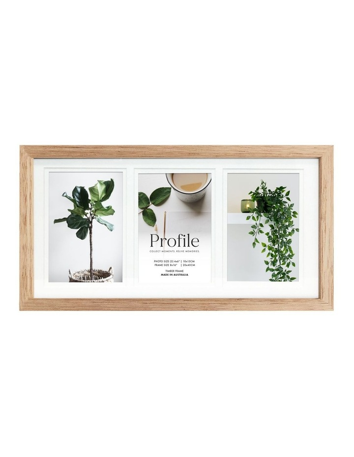 """Deluxe 8x16""""/4x6"""" (3) Timber Photo Frame in Oak image 1"""
