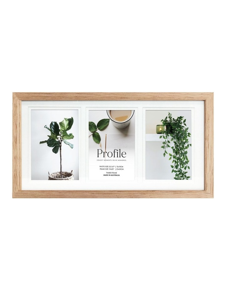 """Deluxe 10x20""""/5x7"""" (3) Timber Photo Frame in Oak image 1"""