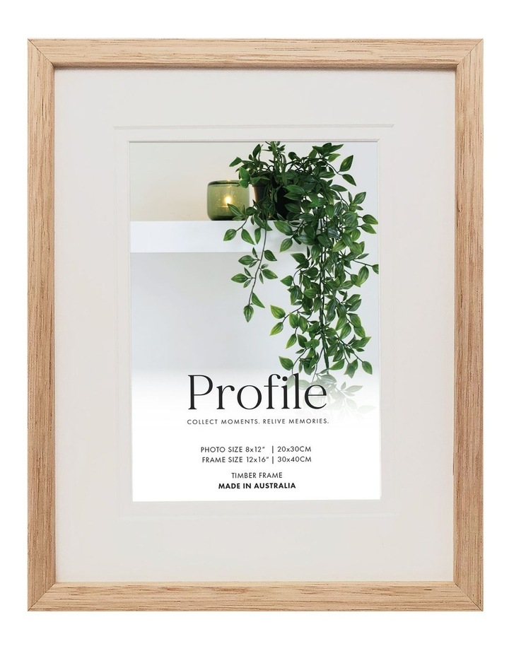 """Deluxe 12x15""""/8x12"""" Timber Photo Frame in Oak image 1"""
