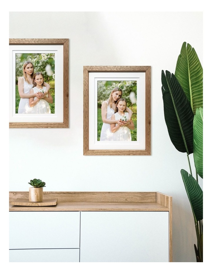 """Deluxe 12x15""""/8x12"""" Timber Photo Frame in Oak image 3"""