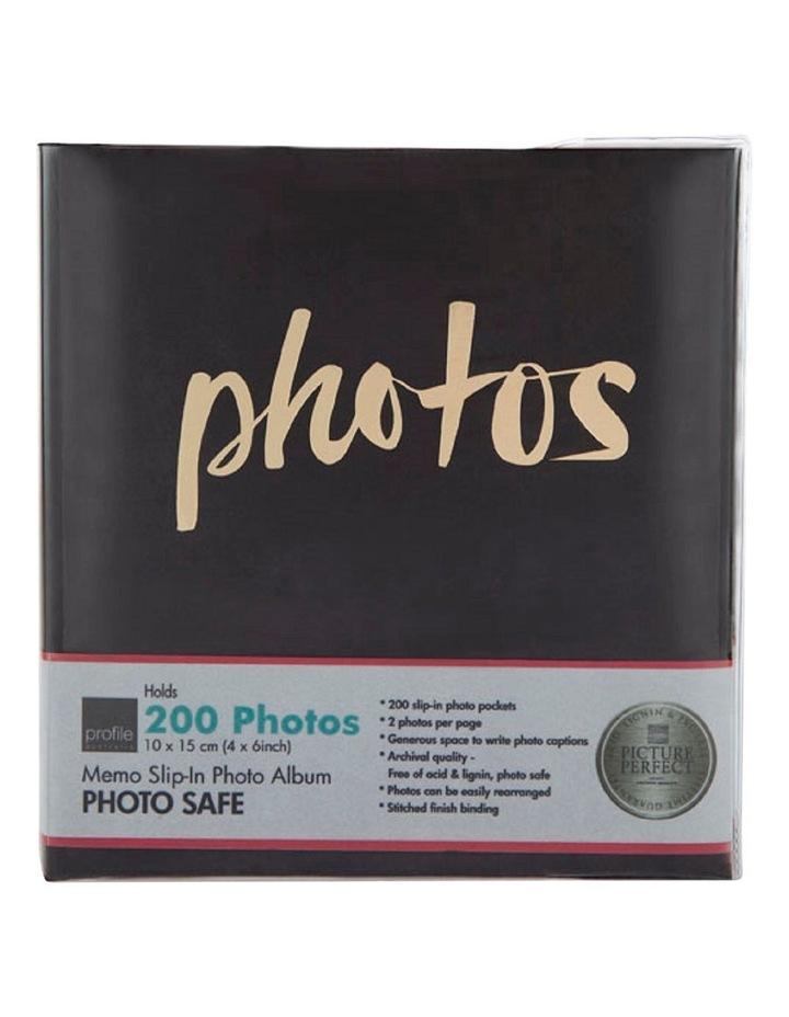 Moda 200x 4x6in (10x15cm) Photo Album in Black image 1