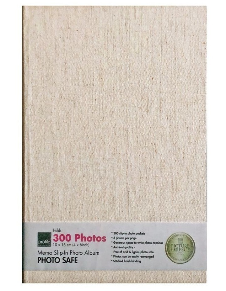 Profile Photo Album Plush - 300 Capacity - Cream image 1