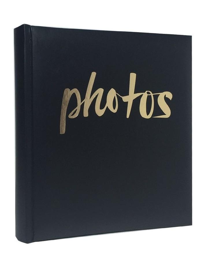Moda 500 4x6in (10x15cm) Photo Capacity Photo Album in Black image 1