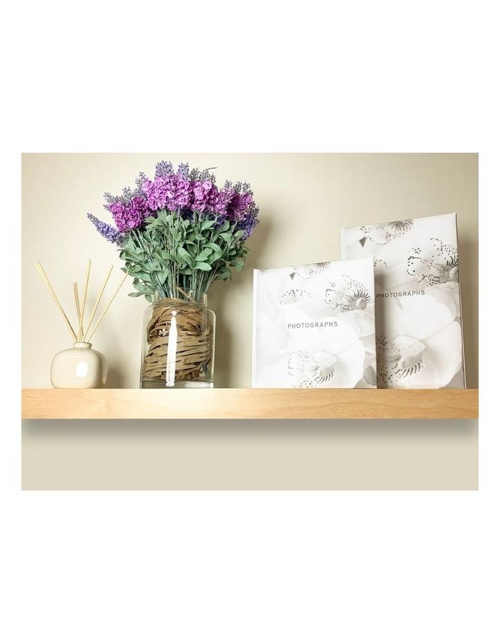 Orchid Noir Slip-in 4x6 200 Photo Capacity Photo Album in White image 3