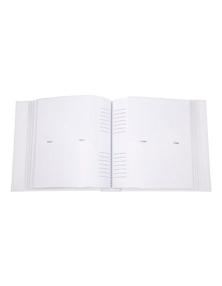 Orchid Noir Slip-in 4x6 200 Photo Capacity Photo Album in White image 4