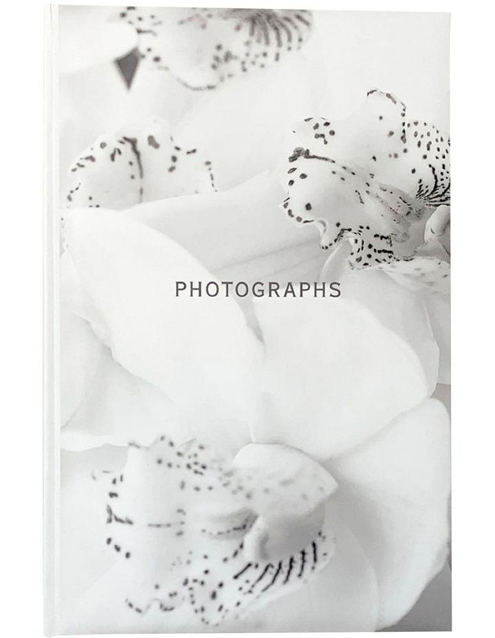 Orchid Noir Slip-in 4x6 300 Photo Capacity Photo Album in White image 1