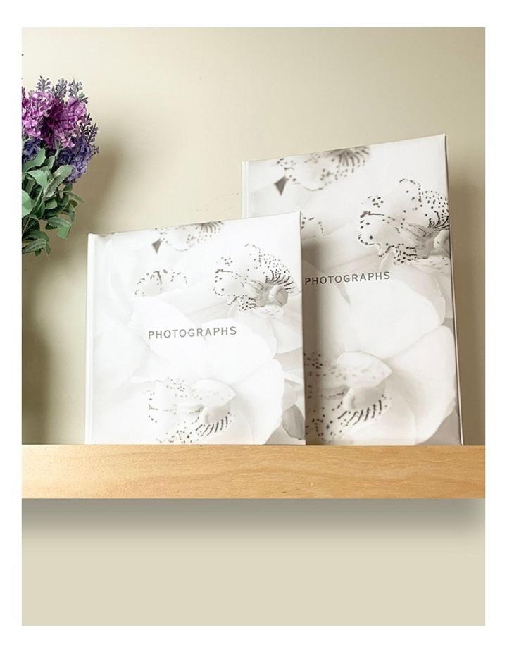 Orchid Noir Slip-in 4x6 300 Photo Capacity Photo Album in White image 3