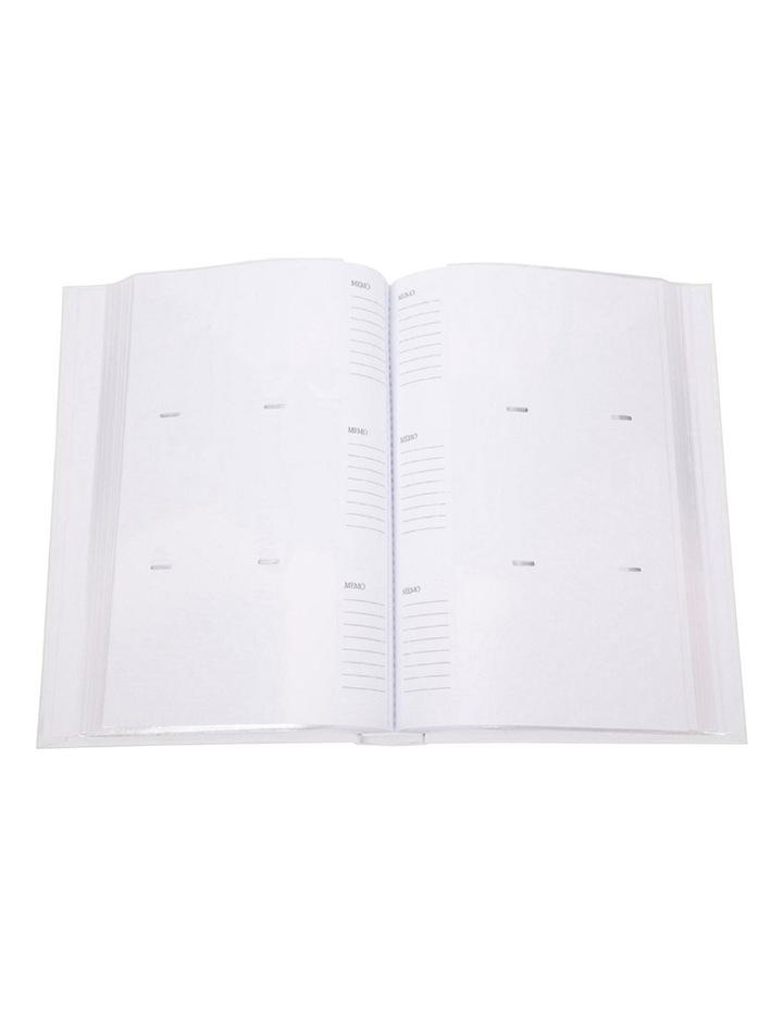 Orchid Noir Slip-in 4x6 300 Photo Capacity Photo Album in White image 4