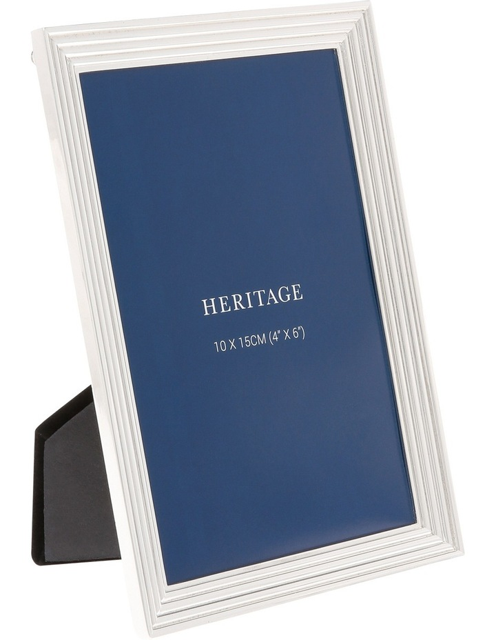 Silver Plated Bevelled Edge Photo Frame 10x15cm image 2