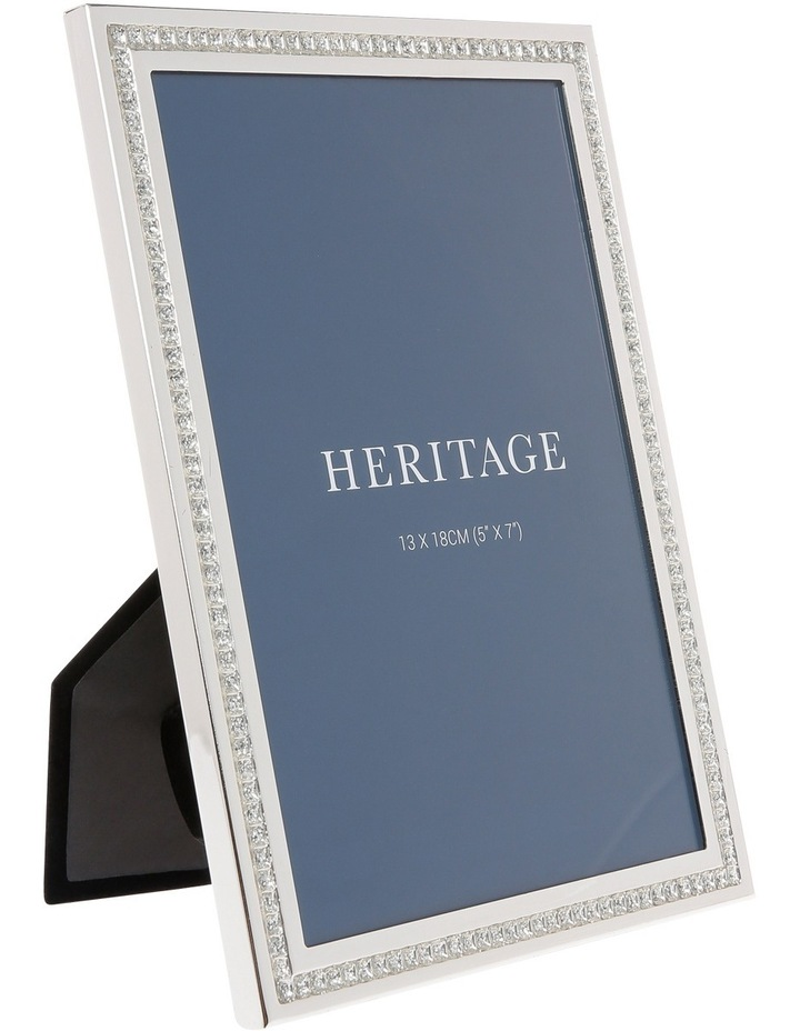 Silver Plated Photo Frame with Sparkling Inlay 13x18cm image 2