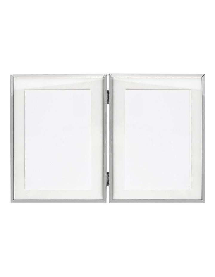 Vue Double Shiny Silver Metal Photo Frame 10x15cm (x2) image 2