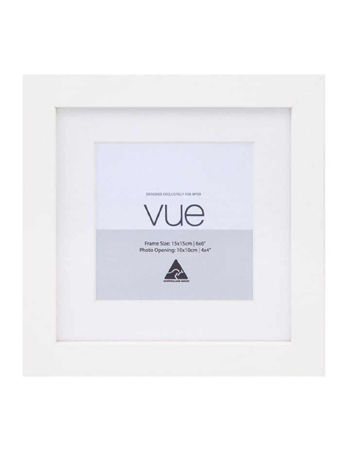 White Photo Frame 15x15/10x10cm image 1