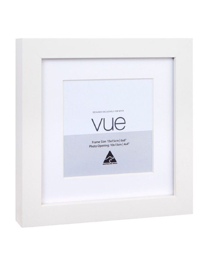 White Photo Frame 15x15/10x10cm image 2