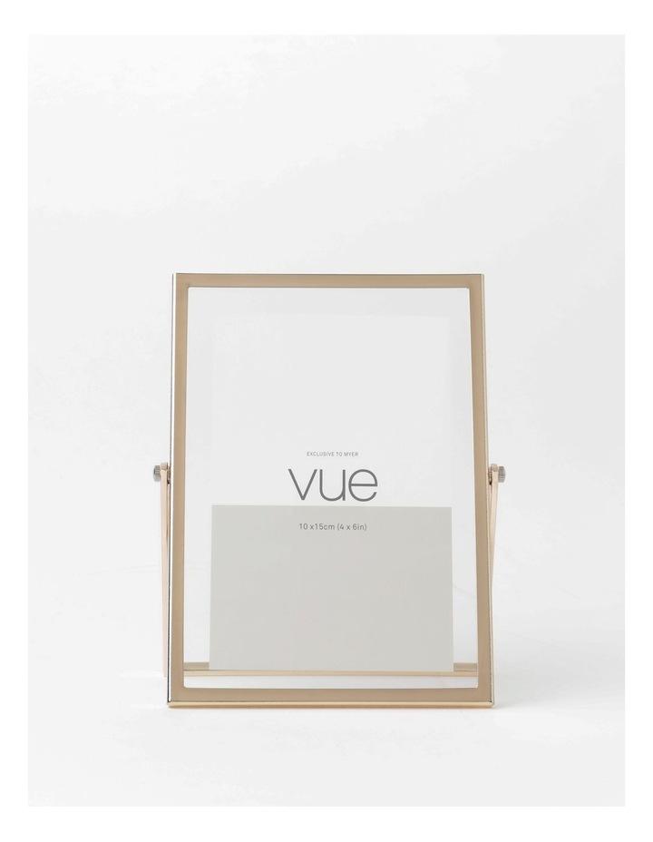 Abbie Glass Photo Frame 10x15cm Rose Gold image 1
