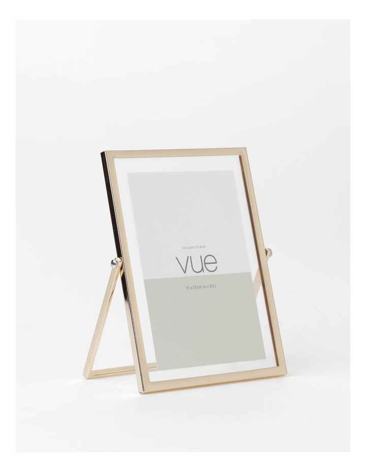 Abbie Glass Photo Frame 10x15cm Rose Gold image 2